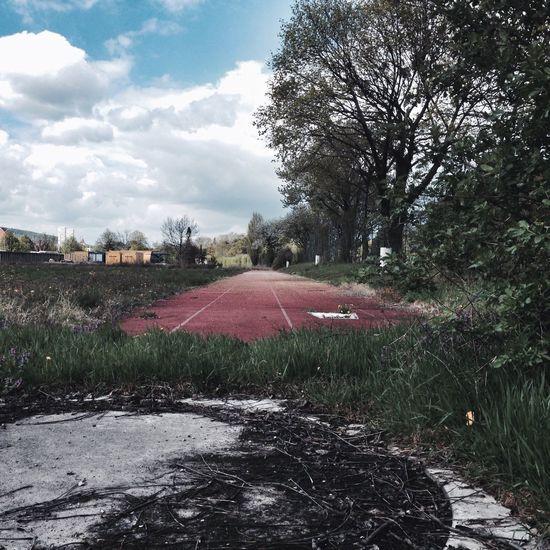 Abandoned Sports Club Running Running Tracks