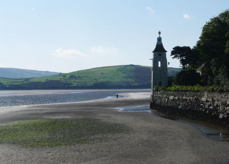 Portmeirion n Wales , Architecture Tranquil Scene Portmeirion William Clough-Ellis Built Structure Tower Tranquility Coastline Nature Calm Landscape_photography