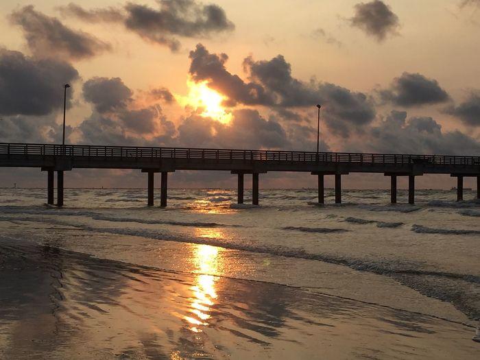 Texas sunrise Texas Sunrise Pier Beach Seascape Waves