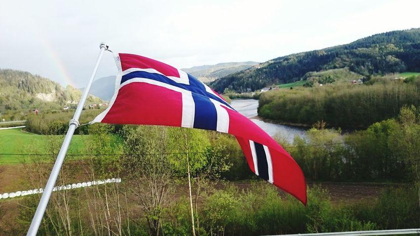 Norway Hovin Landscape Gaula Rainbow Nationalday Norway 17.mai
