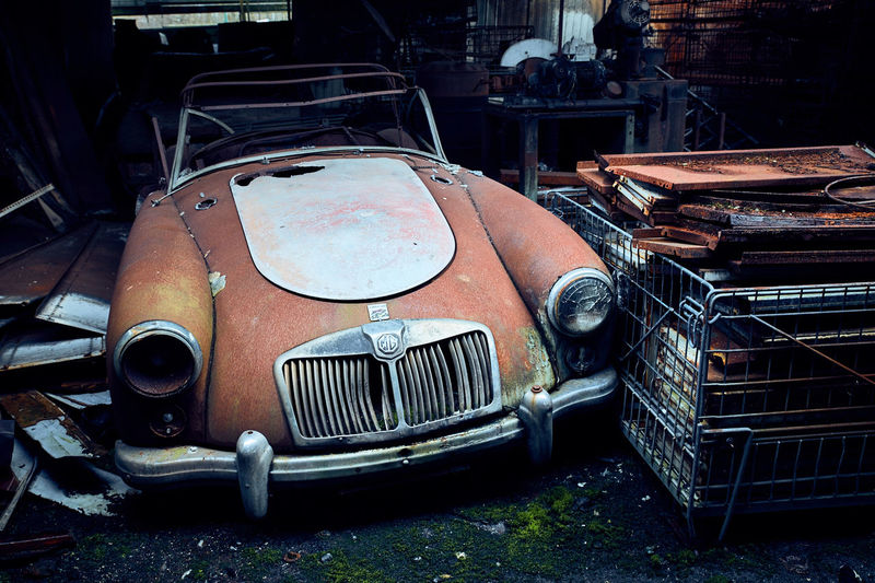 Burned Beauty Abandoned Places Burned Car Abandoned Abandoned Car Bad Condition Badly Damaged Car Damaged Derelictplaces Indoors  No People Obsolete Oldtimer Rusty Transportation