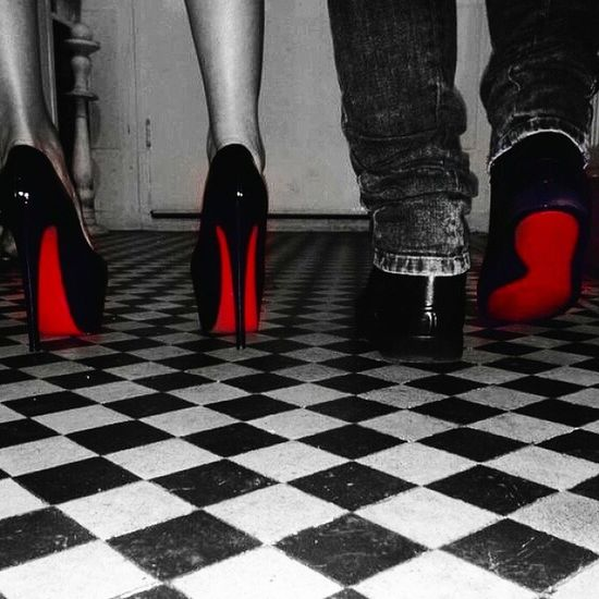 Couple Relationshipgoals Christianlouboutin Shoes fashion blackandwhite artistic RedBottom cute want HisAndHers EnjoyYourDay WhereverYouAre MissingMyPreciousDiamond MoneyIsTheAnthemOfSuccess TheySay wink SendingLoveAndKisses