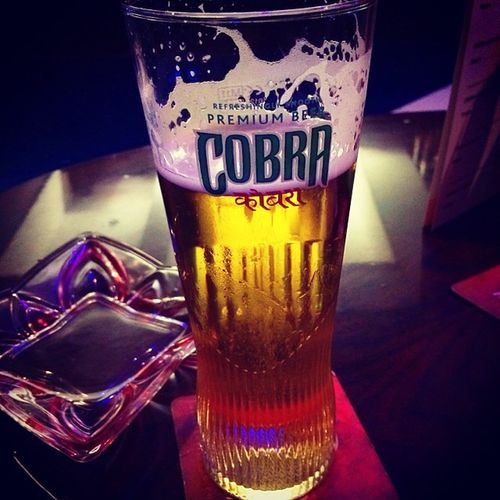 Ah lovely .... Now it's time to relax Currynight Cobra Beer