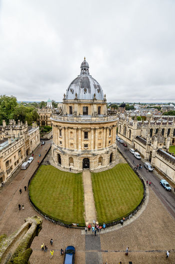 High angle view of Radcliffe Camera in Oxford an overcast day Architecture Built Structure City City Life Cloud Cloud - Sky Cloudy Cloudy College Day Famous Place High Angle View Leisure Activity Library Lifestyles Outdoors Overcast Oxford Radcliffe Sky The Way Forward Tourism Tourist Travel Destinations University