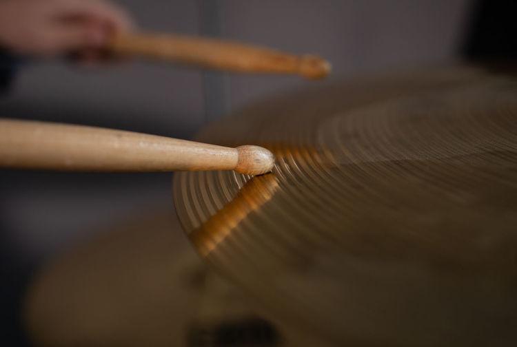 Percussion sticks.
