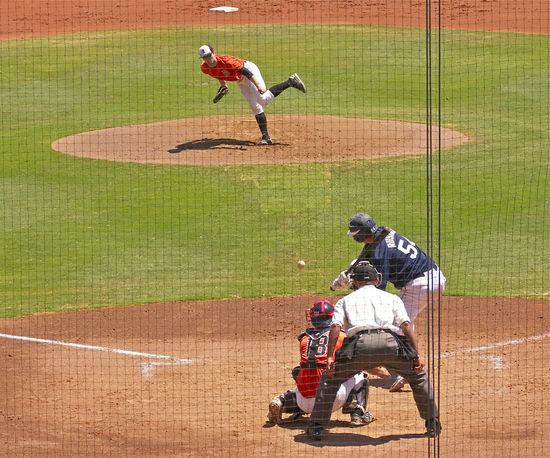 Baseball Field Baseball Game Baseball Pitcher Batter Green Grass Hit Baseball My Son Pitching Outdoors Pride