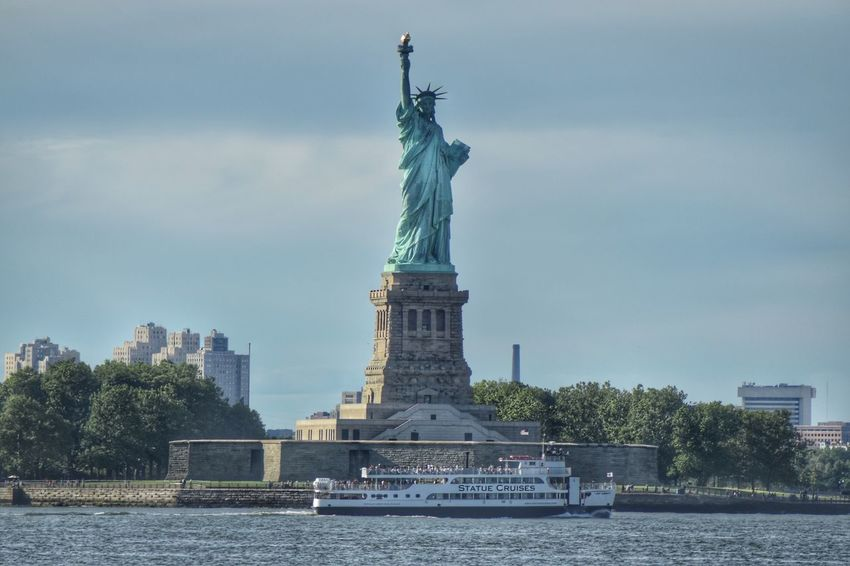 Lady Liberty!! Take State Cruise ride over to Ellis Island! Architecture Sculpture Statue Of Liberty Statue Cruises Cityscape Monument Travel Destinations Outdoors New York Peaceful Staten Island Ferry Landscape Depth Of Field Motion Photography Nikon Nikonphotography D5500 Fitz's Photos