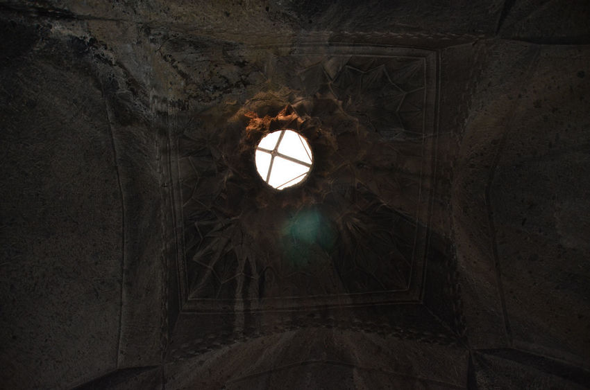 Armenia Armenian Church Geghard Geghard Monastery Architecture Built Structure Day Hanging Illuminated Indoors  Lighting Equipment Low Angle View No People Oriental Orthodox Church Place Of Worship Religion Spirituality Travel Destinations W-armenien