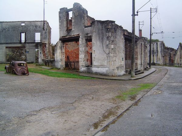 Abandoned Architecture Building Exterior France History Old Ruin Oradour Sur Glane Ruined Street Village Martyr