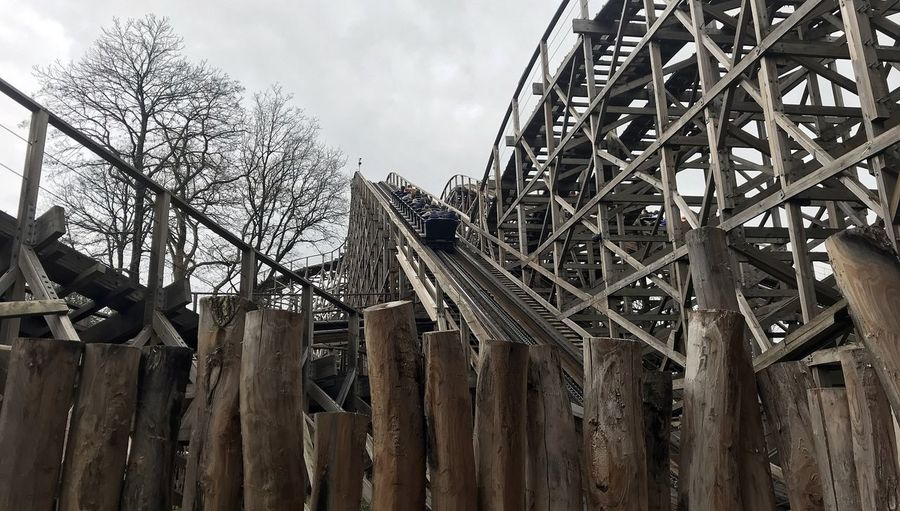 Attraction theme park the Efteling, Kaatsheuvel, the Netherlands Sky Architecture Built Structure No People Wood - Material Nature Day Low Angle View Metal Cloud - Sky Outdoors Tree Building Exterior Bare Tree Boundary Barrier Fence Plant Abandoned Old