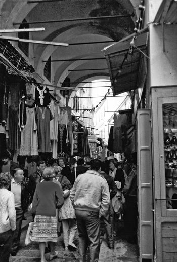 A Taste Of Tunisia Market Tunis Souk Tunis Medina Tunis, Tunisia Adult Adults Only Arab Market Architecture Blackandwhite Photography Building Exterior Built Structure City Day Large Group Of People Lifestyles Men Outdoors People Real People Souks Tourists Destination Walking Women Adventures In The City