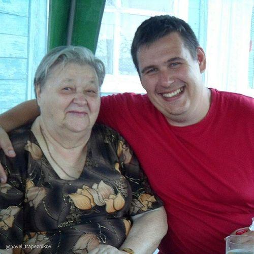 20140624 , Новосибирск . дача . я и моя драгоценная бабушка Надежда Васильевна:-)/ Novosibirsk. Dacha. I and my beloved grandmother Nadezhda Vasil'evna:-)