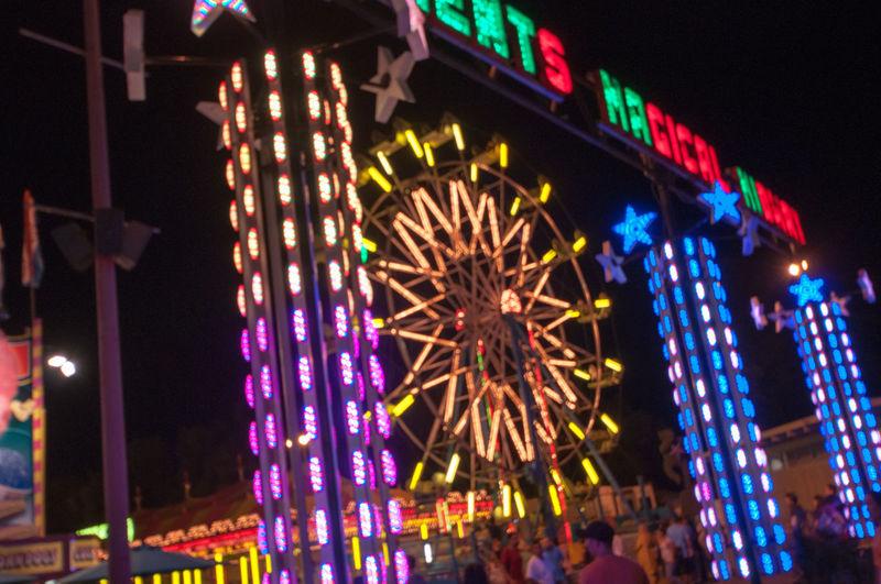 Night Shots_Ferris Wheel @ State Fair Sacramento, Ca. Learn & Shoot : After Dark Neon Lights Night Photography