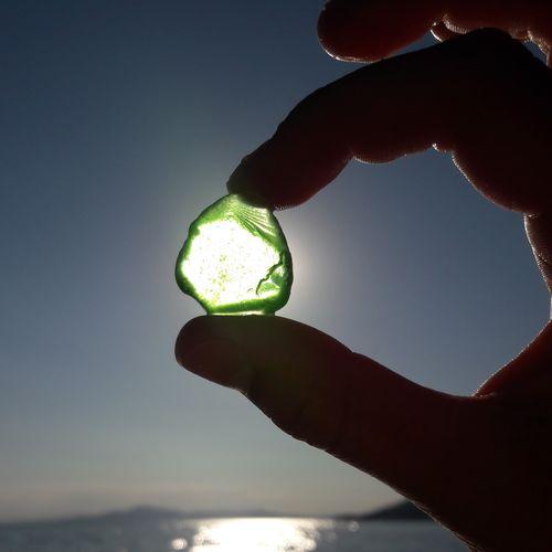 Sea glass and