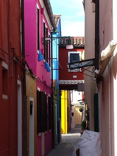 Gassenleben Happy Colours Travels Holiday POV Beautiful View Pitoresque Blue Sky Background Colourful Holiday Memories Ladyphotographerofthemonth Mediterranean  Colourful Houses Colour Splash Sightseeing Showcase July Architectural Detail Check This Out Bunte Gasse Sights & Views  Knallbunte Gasse Burano Italy Close To Venice . Perfect Place For Pastel Colors And Blue Sky . Dolce Vita Colourful Colourful Houses Old Houses Colourful House Colour Of Life Pink Red Blue White Enge Gassen The Street Photographer - 2017 EyeEm Awards The Architect - 2017 EyeEm Awards Done That.