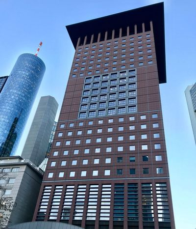 Iphonephotography Germany Frankfurt Architecture Building Exterior Built Structure Low Angle View Tall - High Skyscraper Tower Day Tall Sky Outdoors Travel Destinations Modern No People Clear Sky City