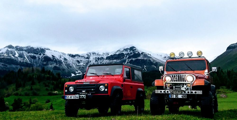 Mountain Firefighter Outdoors Fire Engine Day Sky Water Nature People Defender_life_style Cj Photography Defender90 Land Rover Defender Red Orange❤ Offroad 4x4 Travel 4x4life 4x4 Time