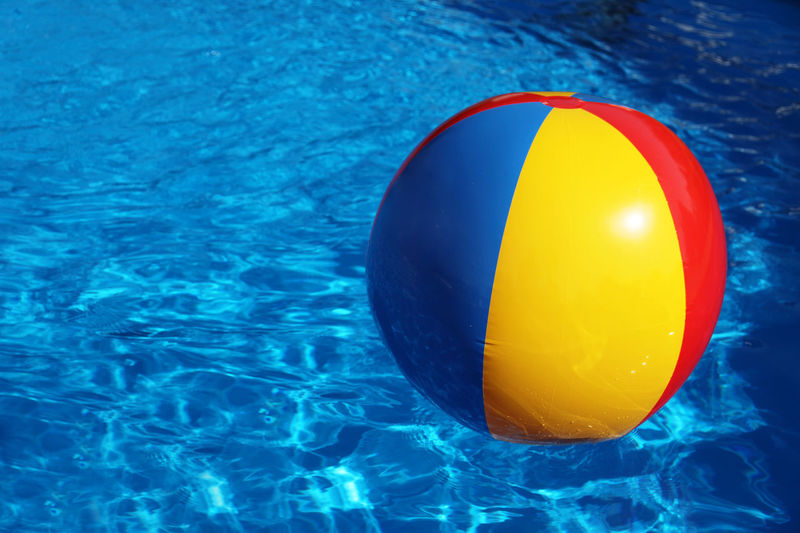 Inflatable toy in swimming pool Copy Space Inflatable  Pool Party Pool Time Poolside Refreshing Summer SUMMER BREAK Summer Holidays Summer Time  Sunshine Swimming Pool Text Space