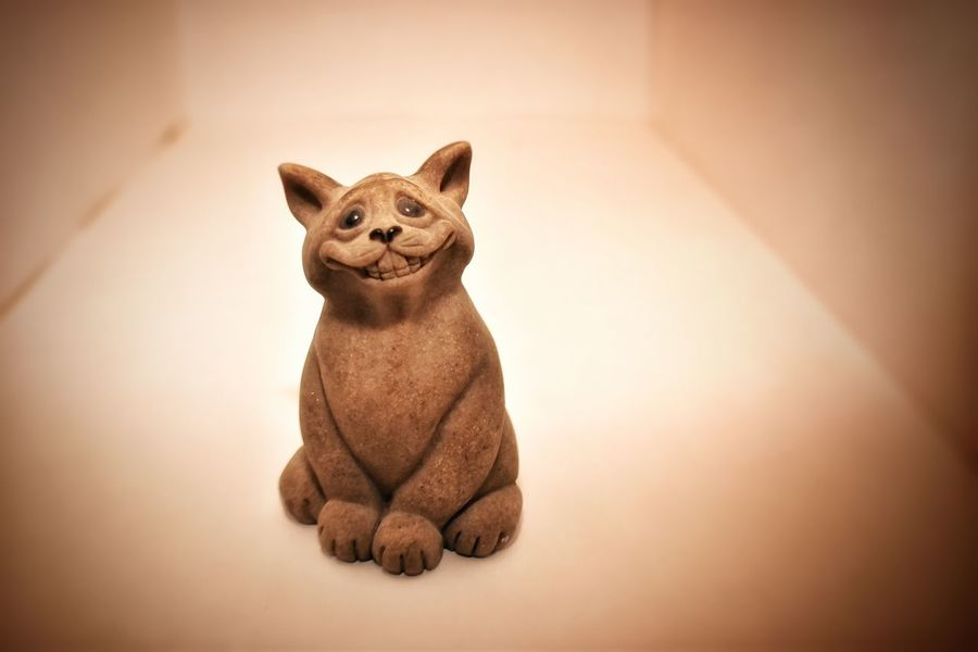 Adorable Alone Animal Representation Art Cats Curiosity Cute Figurine  Lazy No People Sassy Sculpture Statue