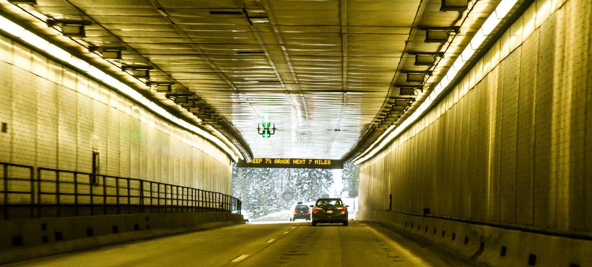 Corridor Day Diminishing Perspective Eisenhower Tunnel Illuminated Interior Long Narrow No People The Way Forward Tunnel Underground Vanishing Point