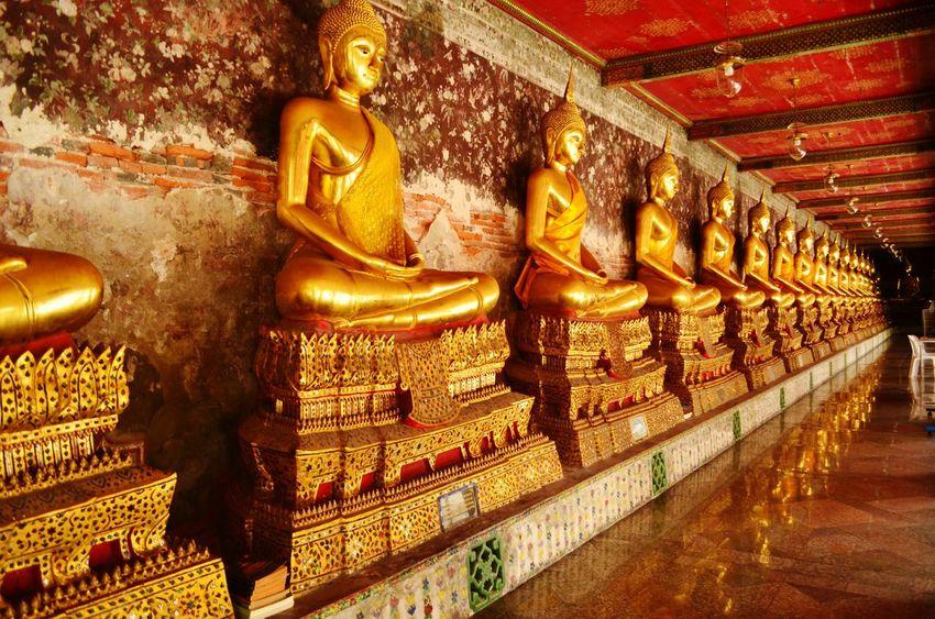 Meditating Buddha at Wat Suthat Thep Wararam Wat Suthat Meditating Buddha Temple Bangkok Thailand