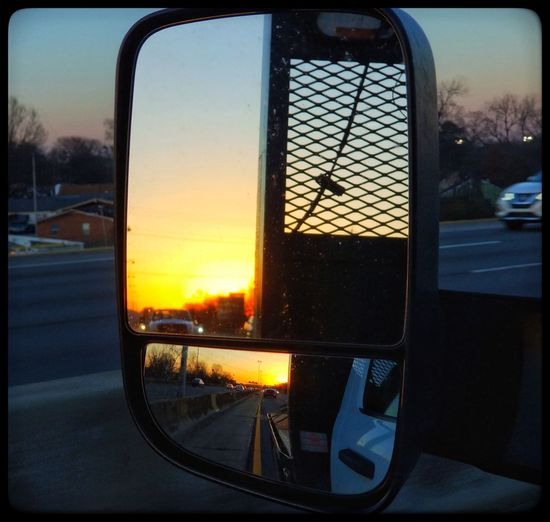 Window Glass - Material Sunset Reflection No People Sky Transportation