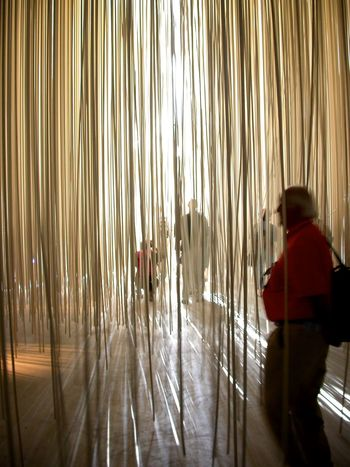 An installation found in Yverdon as part of the 'schweizerische Landesausstellung' 2002 Backgrounds Curtain Deceptively Simple Depth Of Field Detail Hanging Lines Pattern