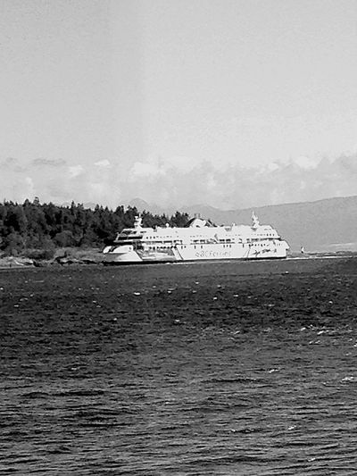Shades Of Grey Ferryboat Ferry Ocean Boat Sky B&w Photography B&w All My Photos Taken With IPhone5 Cool British Columbia ferry coming in to dock at departure bay, Vancouver Island