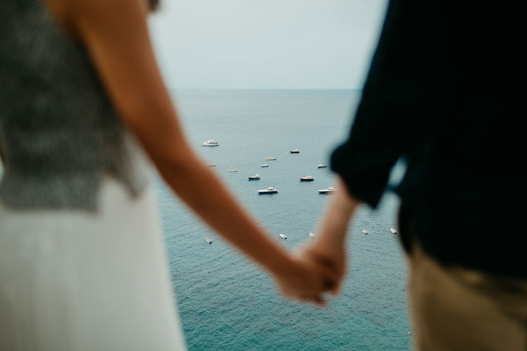 Italy Positano Amalfi Coast Ocean Costa Amalfitana Sea Boats Holding Hands Love Lovers Inlove First Eyeem Photo