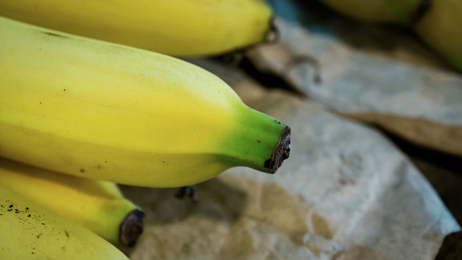 Closeup and selective focus of Cavendish Banana. , Mature, Cavendish Banana Agriculture, Banana Close-up Cultivar, Day Delicious, Focus On Foreground Food Food And Drink Freshness Fruit Healthy Eating No People Outdoors Ripe Selective Focus Tasty, Wellbeing Yellow