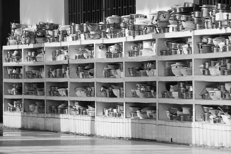 China 2003 Black And White China Dishes University Campus Everything In Its Place