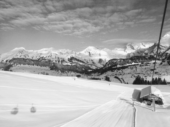 Shadow Mountain Snow Winter Snowcapped Mountain Cold Temperature Sky Mountain Range Landscape Ski Lift Ski Resort  Ski Slope Skiing Ski Track Powder Snow