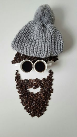 Winter hipster Hipster Cap Liquid Lunch Coffee Coffee Beans Male Face Abstractart Coffee Cup Espresso Drink Liquid Coffee Break Minimalism White Album Creativity Coffee Lover Beard Hipster Style Brown Eyes Caffeine Showcase: February Staying Awake Hairstyle EyeEm Best Edits