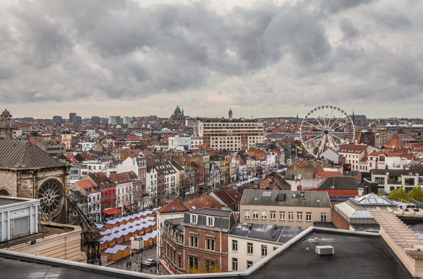 City or Brussels Architecture Belgium Brussels Brussels Belgium Brussels City Architecture Building Exterior Built Structure City Cityscape Cloud - Sky Crowded Day High Angle View Outdoors Residential  Residential Building Sky