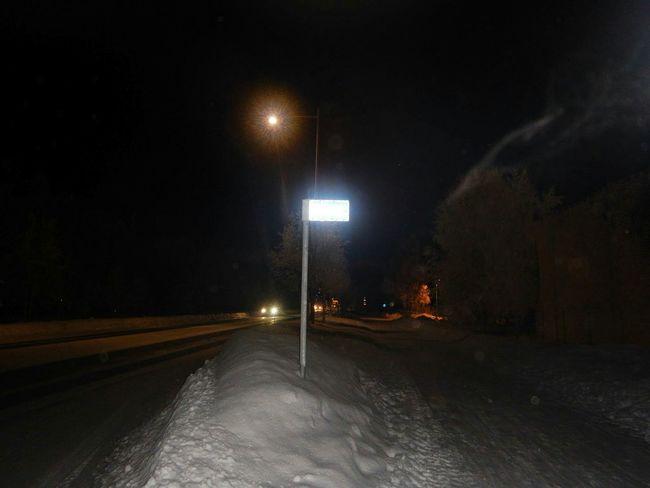 Light And Shadow Nightphotography Night Lights Night View Ivalo Finland Snow Snowy Road EyeEm Best Shots