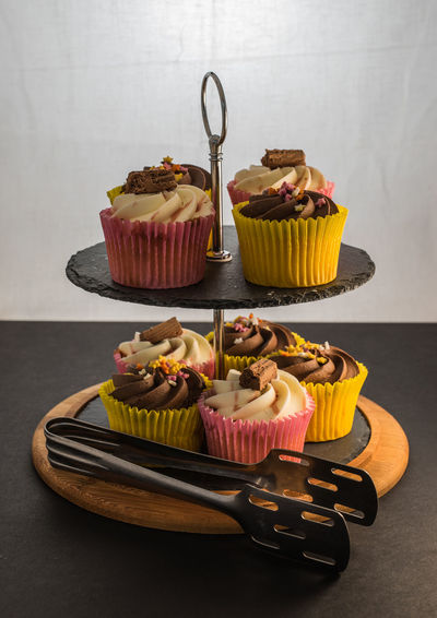 Close-Up Of Cupcakes On Cakestand