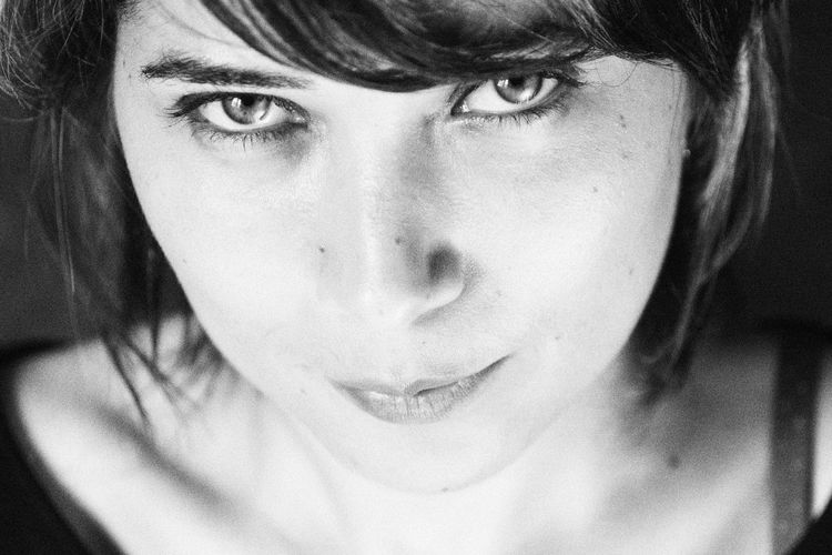 Blackandwhite Bw Close-up Composition Confidence  Contemplation Eyes Front View Head And Shoulders Headshot Human Face Lifestyles Light Look Looking At Camera Person Portrait Portrait Of A Woman Portrait, Real People Serious Young Adult The Portraitist - 2017 EyeEm Awards