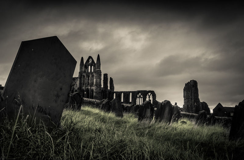 Whitby Abbey, Whitby, North Yorkshire. Abbey Abbey Ruins North Yorkshire Abandoned Ancient Architecture Building Exterior Cemetery Damaged Day Grass History Memorial Nature No People Old Ruin Outdoors Sky The Past