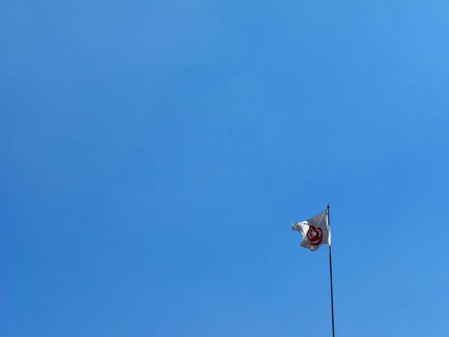 松屋銀座の旗です(笑)!Taking Pictures Taking Photos Flag Sky Skyporn Only Blue Hot Day Summersky
