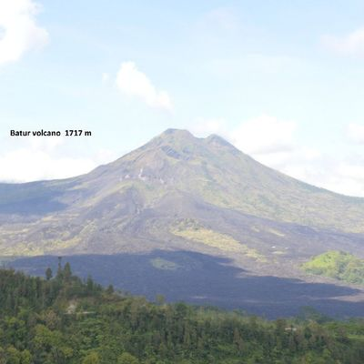 Batur active volcano. Last eruption 2000 INDONESIA