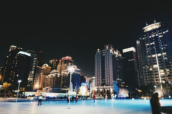 City VSCO Night City At Night Cityview City Streets  CityWalk City Lights City Life Outdoors Lifestyles Vscocam Taiwan Taichung Taichungcity Building Buildings Buildingstyles Building And Sky