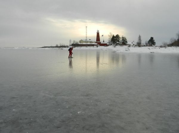 Bonan Lighthouse Long Distance Skating Outdoors Sea