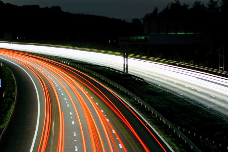 M25 30secondexposure Photographer AmatuerPhotographer Canon700D 75to300mmlense Kent Lightphotography Nightphotography Night Lights Gardenofengland City Vehicle Light Winding Road Traffic Tail Light Headlight Highway Overpass Multiple Lane Highway