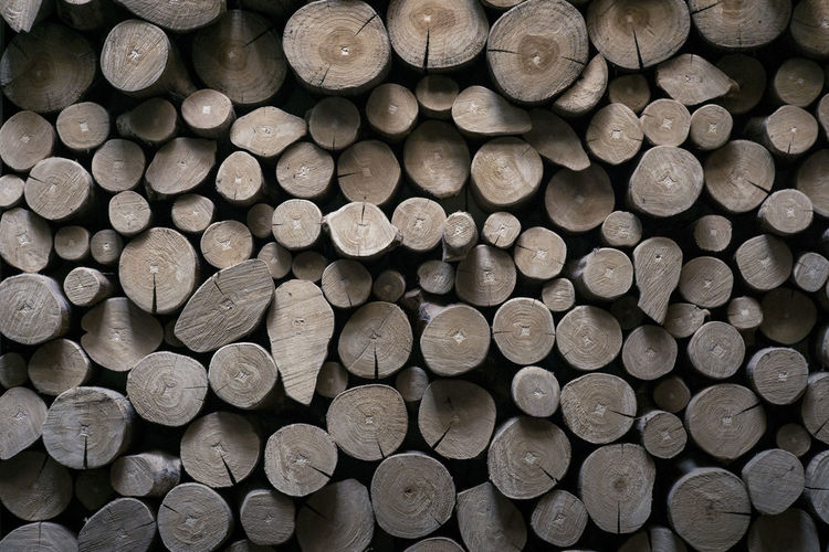 Backgrounds Firewood Large Group Of Objects Log Lumber Industry Stack Timber Wood - Material Woodpile