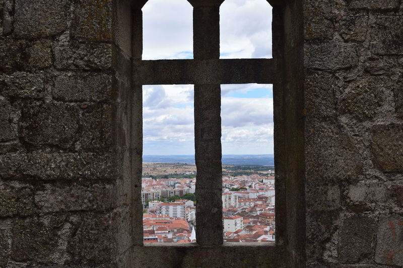 Window Architecture Cityscape City Sky Cloud Town Castelo Branco Taking A Peek Portugal Check This Out Royal View Indoors