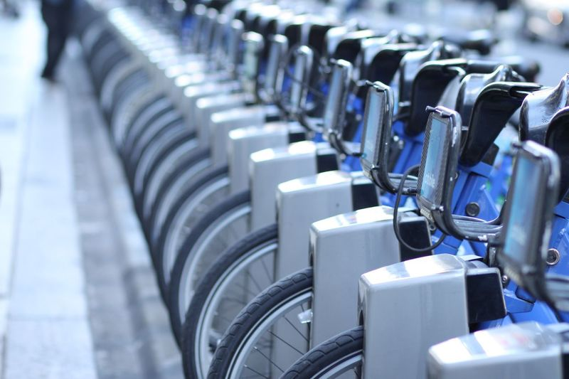 In A Row Large Group Of Objects New York City New York New York Street Photography Bicycle Travel