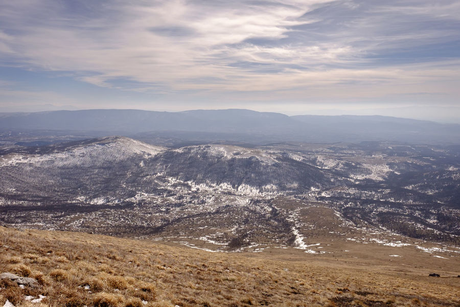 Hiking on the mountain Rtanj, Serbia Aerial View Beauty In Nature Cloud - Sky Day Landscape Mountain Nature No People Outdoors Sky Snow Sunset Winter