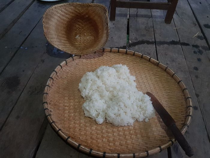Sticky Rice Cake Thaifood High Angle View Food And Drink Food No People Sweet Food Indoors  Dessert