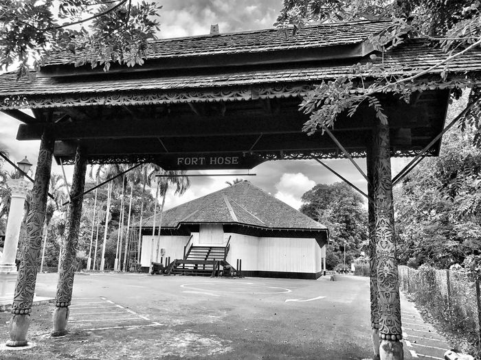 Fort Hose located in Marudi, Sarawak, Malaysia. A relic from the rule of the White Rajah of Sarawak. Constructed in 1912 and still standing watch over the Baram River. Architecture Built Structure Building Exterior Tree Roof Day Outdoors No People Sky Nature