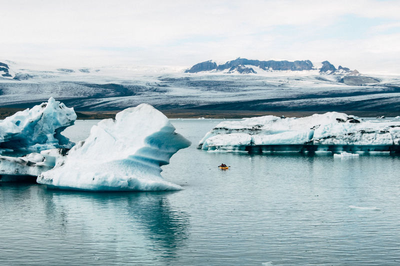 Majestic icebergs in iceland